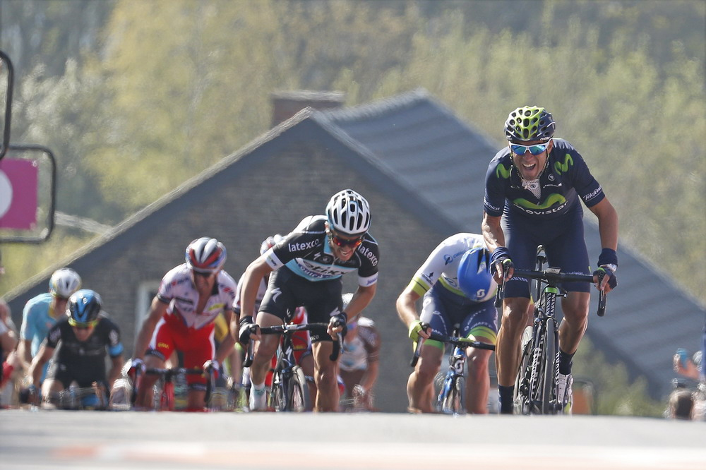 CYCLISME - LA FLECHE WALLONNE - UCI WORLD TOUR - 2015 22 April 2015 79th La Fleche Wallonne 1st : VALVERDE Alejandro (ESP) Movistar Photo : Yuzuru SUNADA *** Local Caption ***