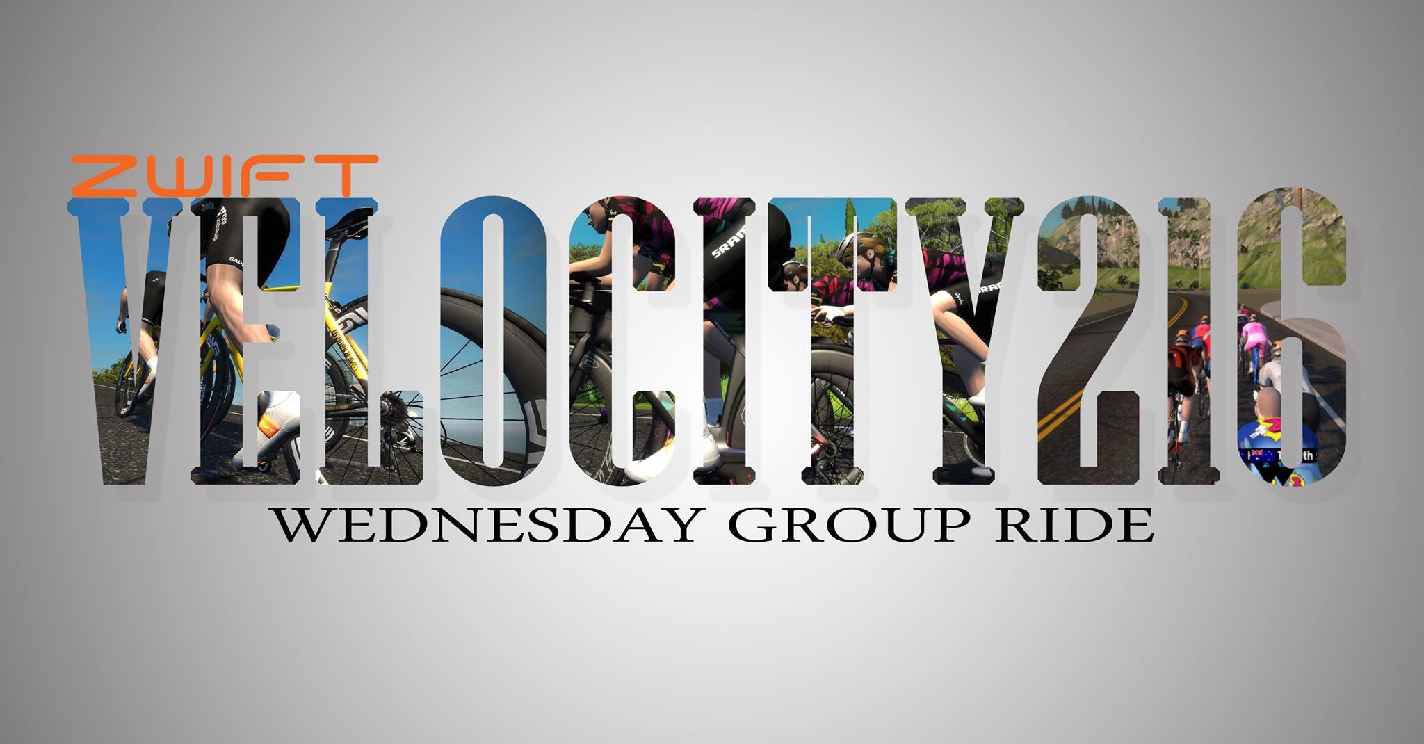 Zwift Velocity216 Wednesday Group Ride